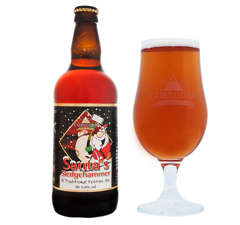 santa and glass