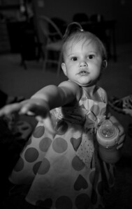 I think she wanted my Camera for her Birthday :)