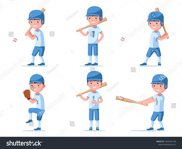 stock-vector-set-of-boy-baseball-player-in-sports-uniform-a-group-of-a-small-child-in-baseball-ammunition-plays-1496782148