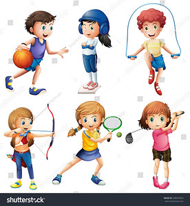 stock-vector-kids-playing-sport-on-white-228254476