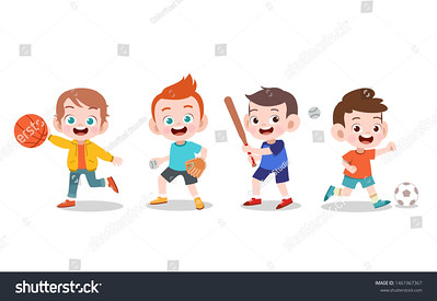 stock-vector-kids-playing-various-sports-vector-illustration-1461967367