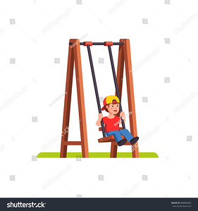 stock-vector-little-boy-swinging-on-a-swing-with-wooden-supports-school-or-kindergarden-kid-playing-outside-on-688800892