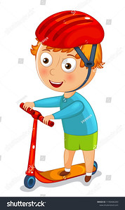 stock-vector-little-boy-on-a-scooter-in-a-helmet-vector-illustration-1190406283