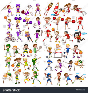 stock-vector-kids-playing-various-sports-illustration-302477468