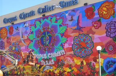 Gonzales's Caller Times mural