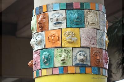 Crosstown highway support art