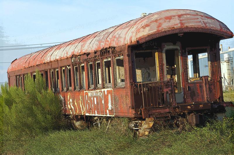 Abandoned train car on North Beach