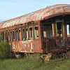 Abandoned train car on North Beach