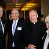 Dr. Tomothy McNiff, Senator George Mitchell, Leo J. O'Donovan, S.J., Eleanor McGee
