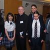 Students with Fr. Raymond  Rafferty, Pastor of Corpus Christi