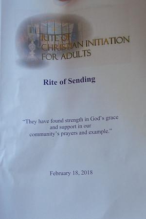 2018 Feb 18 Rite of Sending