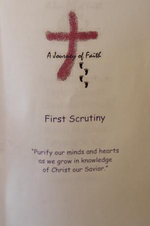 2018 March 4 RCIA First Scrutiny at Corpus Christi Church
