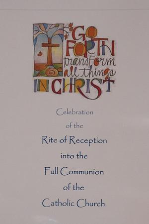 Rite of Reception into Full Communion 2018 Feb 11