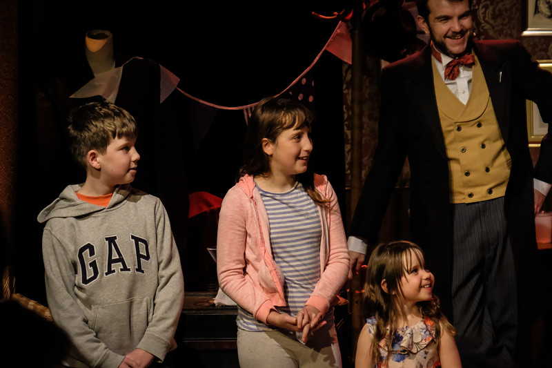 morgan and west perform theeir magic act at the pound corsham
