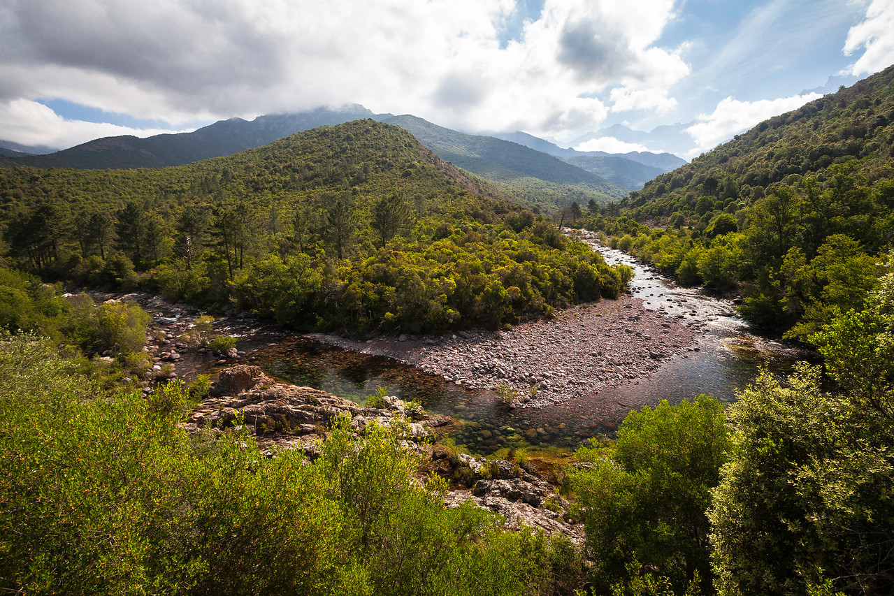 Fangu river, Corsica, France