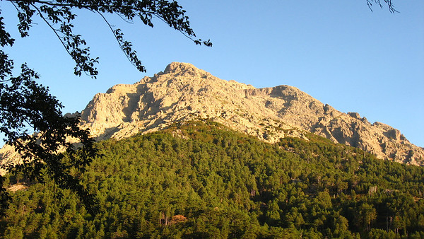 Day 1 of the GR20 hike: Monte d'Oro at 7:30am