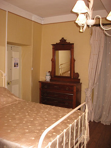Our room at Monte d'Oro hotel--last night with a hot shower and a real bed!