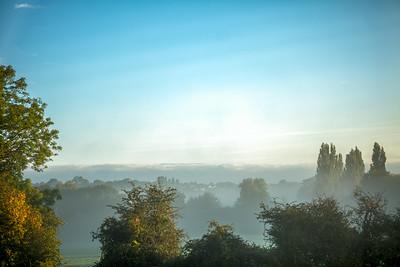 Sun burning off the morning mist
