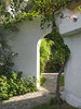 In 2008 my room was through this archway in a quiet area ...