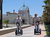 Police ride up and down the promenade on these scooters