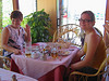 These two women from the Ukraine sat at the next table and we conversed with a few words and lots of gestures