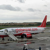 2008: My plane waiting for boarding in Edinburgh on a very cold and wet morning