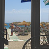 View from the cafe towards the beach