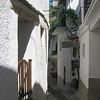 Picturesque narrow street leading to the Bodega (delicatessen)