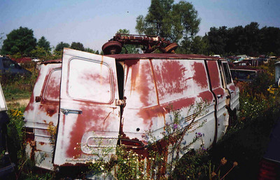 Amish country Corvair Panel van Troy and I found in JY summer of 07