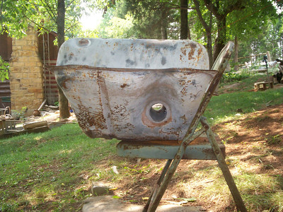 """Only this is the """"very rare"""" Tunnel Tank, used on late 1963-1965 Corvair FCs with a manual transmission. Note the hole THROUGH the tank!"""