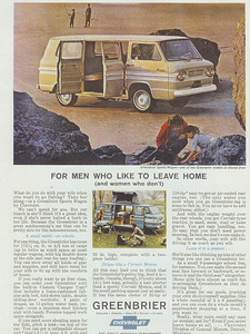 This is the Greenbrier ad for 1964. Note the camper set-up in the inset.