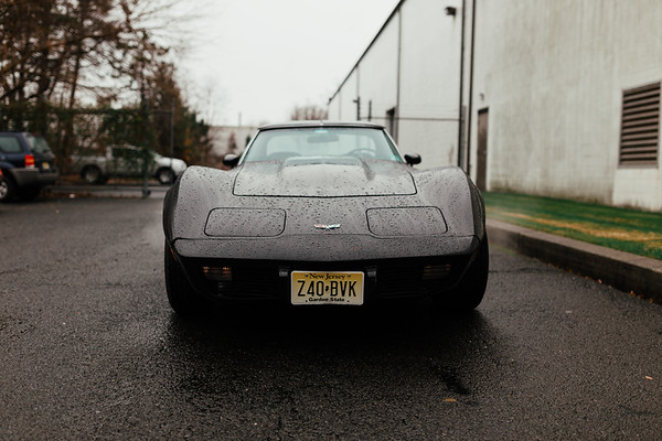 Corvette At Echo Molding in the Rain