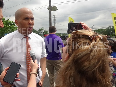 Cory Booker At Toys R Us Rally In Totowa, NJ