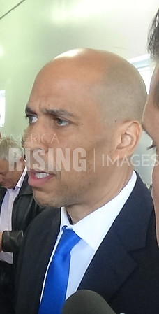 Cory Booker at Sandy Recovery Next Steps in Union Beach, NJ