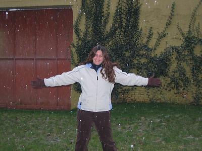 Esta nevando!