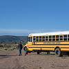 The Aldo Leopold bus was a big hit with a 2-year-old camper.