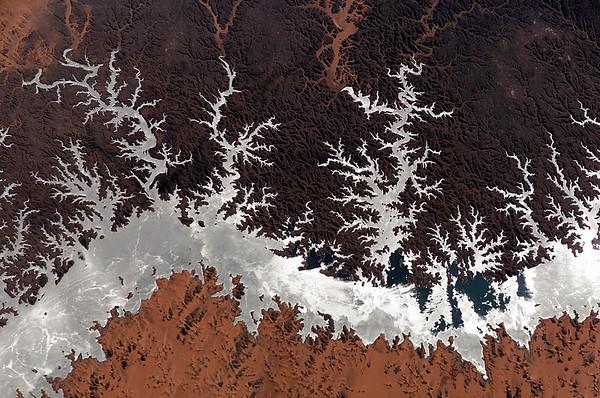 Egypt --- Lake Nasser from space --- Image by NASA/Bryan Allen/Corbis