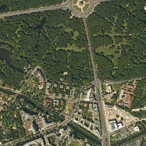 5000x5000, aerial photograph, earth, satellite picture, Berlin, Tiergarten