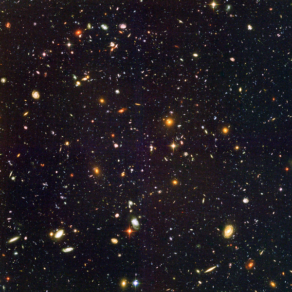 Stars No.  Hubble sees galaxies galore