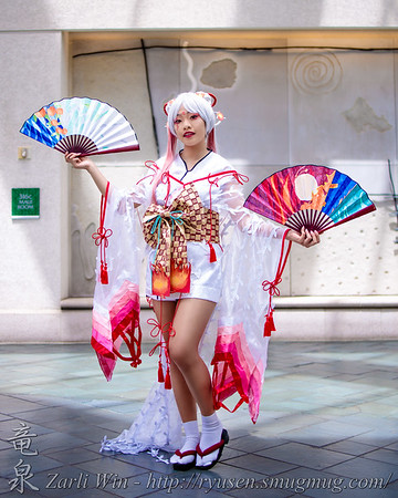 I have to admit, i have no idea what this cosplay is from, but anyone that knows me knows, i'm a big fan of things kimono inspired.