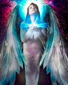 Angel holding the light