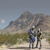 The Mason's as Vault Dwellers from Fallout. Background is Valley of Fire near Las Vegas.