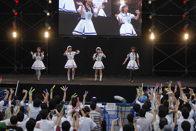 """Project Milky Holmes - Milky Holmes was turned into a singer group that was formed in 2010 to promote the four detectives even more. The group Milky Holmes (ミルキィホームズ) is made up of the four main seiyuu of the anime and game Tantei Opera Milky Holmes (探偵オペラミルキィホームズ), Mimori Suzuko (三森すずこ), Kitta Izumi (橘田いずみ), Tokui Sora (徳井青空), and Sasaki Mikoi (佐々木未来).  The four seiyuu are put in cosplay of the girls they provide voice for, however if you are still not positive on which one is which here is a small reminder:  ■Sherlock Shellingford (Pink) is Suzuko Mimori [三森 すずこ]   ■Nero Yuzurizaki (Yellow) is Sora Tokui [徳井青空]  ■Cordelia Gray (Blue) is Izumi Kitta [橘田 いずみ]   ■Hercule Barton (Green) is Mikoi Sasaki [佐々木未来]  Milky Holmes sings the theme songs and character songs for the anime and game, the group has been tasked to sing the Opening songs and OST for """"Tantei Opera Milky Holmes"""" as well as its OVA. Releasing a couple of CDs, here they are as follows:  ■Seikai ha Hitotsu! Janai!!  ■Milky Show Time  ■Colourful Garden  ■To-gather!!!!  ■Nazo Nazo Happiness   Currently under the group, they have 1 maxi-single, Colorful Garden, consisting of 6 songs."""