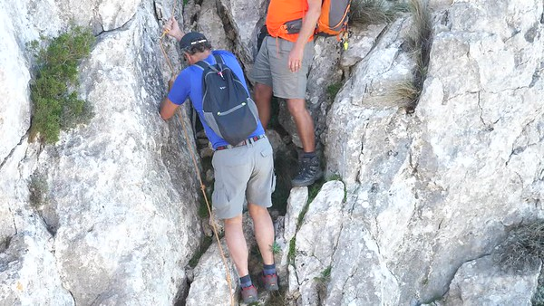 West Bernia - Jim & Reinhold on the orange rope pitch