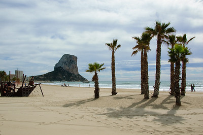 Peñón de Ifach (3) This time taken from the beach to the south-west of the Penon - Playa del Arenal Bol