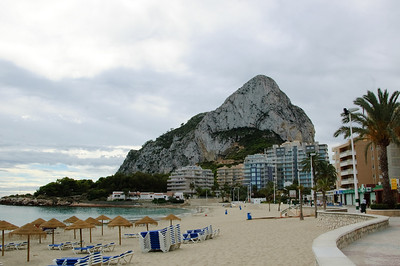 Peñón de Ifach and Beach (1) The Peñón de Ifach is a massive limestone outcrop in Calpe and is considered the symbol of the Costa Blanca. This picture was taken from Playa de la Fossa on the north-east side of Calpe.
