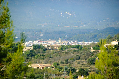Jalon Village You could just see Jalon village in the distance from the villa.  My super-duper 200mm lens allowed me to zoom right in for this shot.