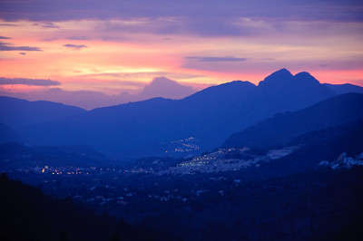Sunset over Jalon Valley
