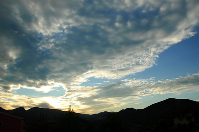 Sunset Clouds (1) One evening we had the most amazing sunset over the valley with some impressive cloud formations.  I got a bit trigger happy, but it was worth it.  Some lovely photos here.