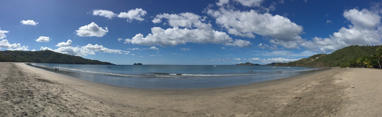 A Pan of the Beach at Playa de Hermosa